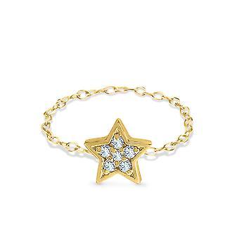 Ring Star 18K Ouro e Diamantes