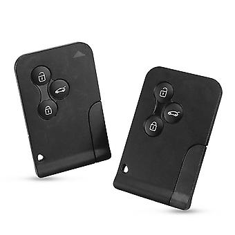 3-button Smart Card, Case Car Key, Fob Shell With Small Key