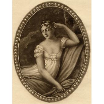 Impératrice Joséphine 1763-1814 Original Marie-Josephe-Rose-Tascher De La Pagerie appellent aussi Josephine Bonaparte fin impératrice Reine de France et l'Italie mezzotinte Original par GWHRitchie de la Dame de livre