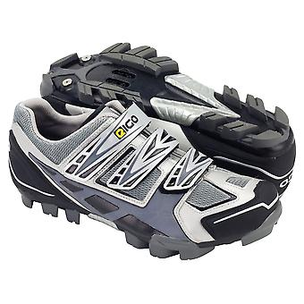 Eigo Epsilon MTB Shoe Nylon Sole Triple Velcro Strap - Silver/Grey