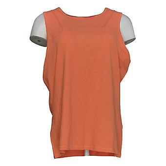Chiunque donna top accogliente gentile maglia maglia girocollo serbatoio rosa A377738