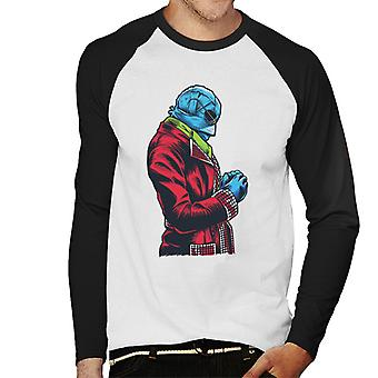 The Invisible Man Red Suit Men's Baseball Long Sleeved T-Shirt