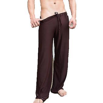Summer Pants Sleep Bottoms Nightwear Ice Silk Home Pajamas Sleepwear Trousers