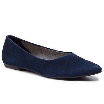 Vagabond aya azul escuro flats mulheres azul
