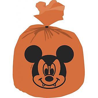Sacs à distribuer Mickey Halloween Orange 30 X 25 Cm 6 Pièces