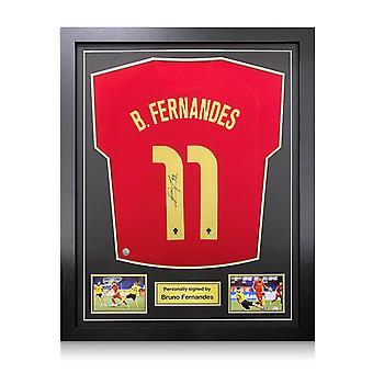 Bruno Fernandes värvade Portugaltröjan. Standardram