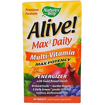 Nature's Way Alive Daily Multi Vitamin Max potency 90 tablets