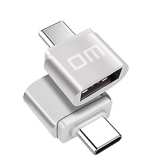Dm Type C Silver Type-c Adapter Usb Converter Adapter Type Usb  Data Support