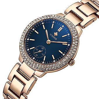 WWOOR 8854 Crystal Casual Style Damski zegarek na rękę Zegarek ze stali nierdzewnej Kwarcowy