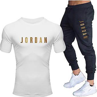 Men's Sets T Shirts+pants Two Pieces Sets, Casual Tracksuit, Men/women Suit