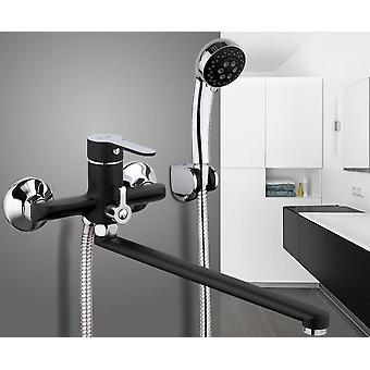 Torneira do chuveiro do banho de tubo de saída - cabeça de pintura de spray de superfície do corpo de bronze