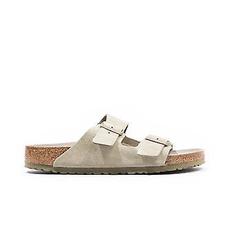 Birkenstock Arizona Suede Leather Sandals - Faded Khaki
