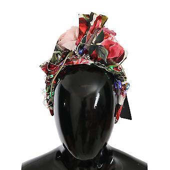 Κόκκινο πράσινο κρύσταλλο LED φως floral diadem headband