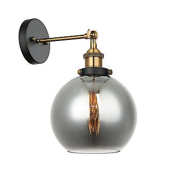 Lámpara De Pared Industrial Y Retro Cardena Negro, Dorado