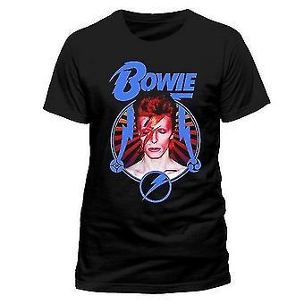 David Bowie Unisex Adult Kamon Circle T-Shirt