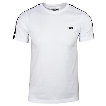 Lacoste men's white taped t-shirt