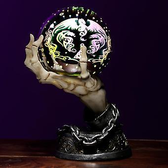 Esfera metálica de esqueleto decorativo