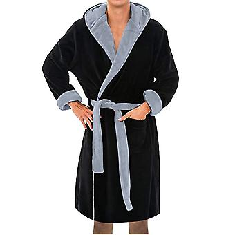 Winter Mannen Warme Gewaden Dik Verlengd Pluche Sjaal Badjas Kimono