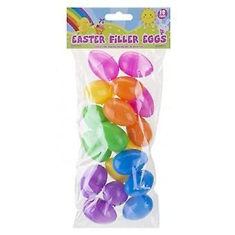 Påskefyllelegg 6 x 18 pakning = 108 egg hvert egg måler 4,5 x 3 cm.