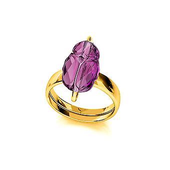 24K gouden amethist ring