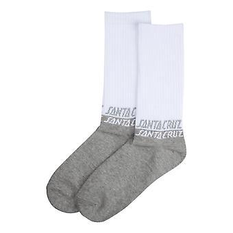 Santa Cruz 50/50 Socks - White / Athletic Heather