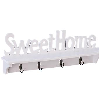 Wall Shelf Wall-Mounted Coat Hook, Hanging Entryway Shelf with Letter