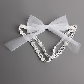 1 Pcs Baby Bow Lace Headbands Pearl Flowers Headband Headwear Hair Band
