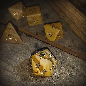 Wooden Jasper Gemstone Dice Set