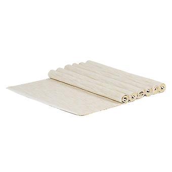 6 tovagliette in cotone a coste Morbidi tappetini da pranzo intrecciati 45 x 34,5 cm Naturali