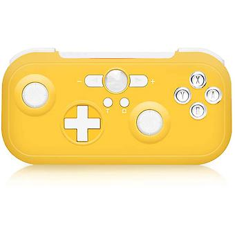 Controller Switch 6-Axis Sensor Double Shock Wireless Bluetooth Pro Wireless Switch Controller for Nintendo Switch Compatible with Switch, Switch Lite, PS3, Steam(yellow)