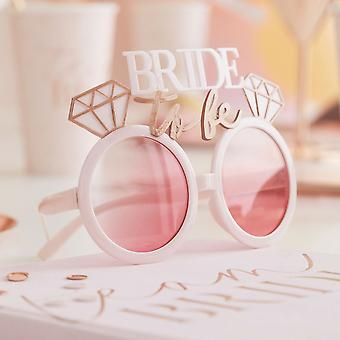bruden å være høne fest moro solbriller rose gull rosa farget linser