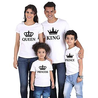 Roupas combinando família olhar pai mãe coroa t-shirt
