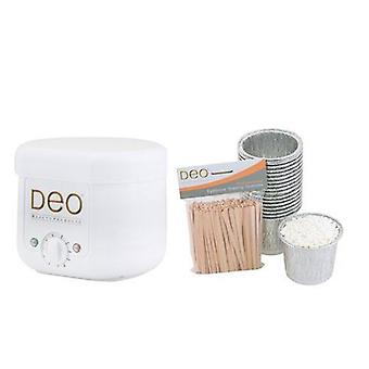 DEO Mini Wax Heater Kit with 10 Temperature Settings - Modern & Compact - 100cc
