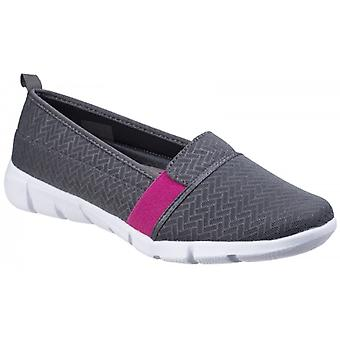 Fleet & Foster Canary Ladies Slip On Shoes Grey