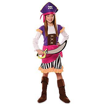 Déguisement pirate aventure violet fille