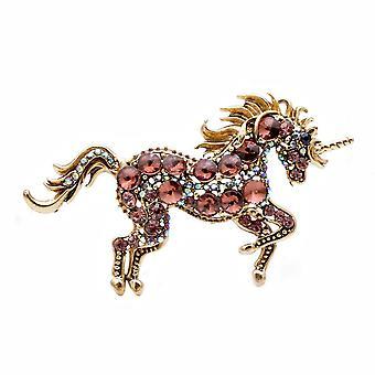 7 Colors Choose Rhinestone Horse Brooches Unicorn Brooch Pin