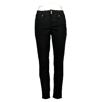 Global Chic By Iman Women's Petite Jeans 2XP Slim Skinny Black 685778DFA