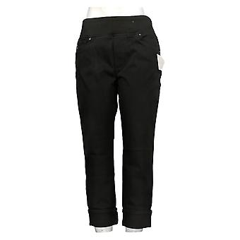 Belle By Kim Gravel Women's Petite Jeans Ankle Cuffed Black A366701