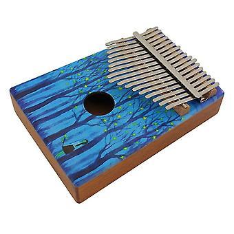 17-Key portátil de madeira kalimba thumb piano mbira