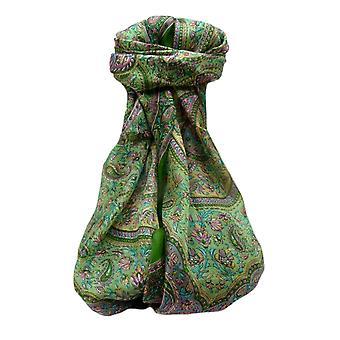Mulberry Silk Tradicional Cachecol Longo Ishara Sage por Pashmina & Silk