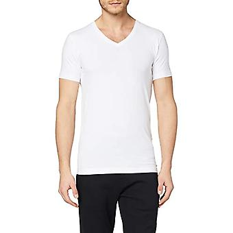 Seidensticker T-Shirt V-Ausschnitt Kurzarm Uni, White (Wei 1), X-Large Men
