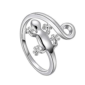 Peacock-shaped ring, pink-shaped, with lizard, for women and girls, in Sterling silver and Base Silver Plated, Ref. 8414858871224(2)