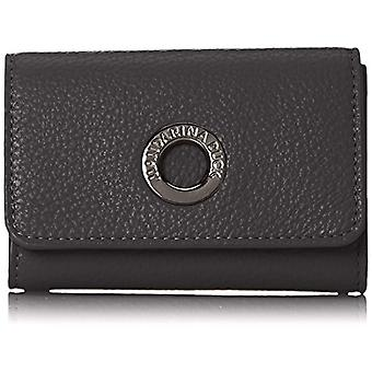 Mandarin Duck Mellow Leather Wallet, Woman, Black, 1.5x8x12 centimeters (B x H x T)