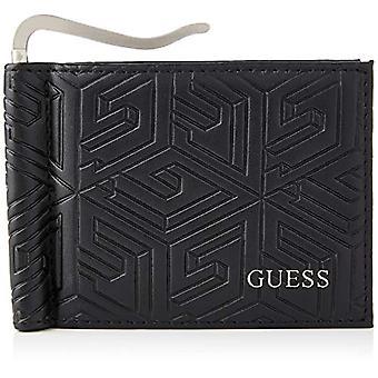 Guess BALDO MONEY CLIP CC, Travel Accessories- Wallets Men's Wallet, BLACK, One Size