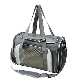 Large Capacity Breathable Foldable Cat Bag, Small And Medium Sized Pets