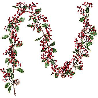 Berry Garland,garlands With Pine Cones And Leaves,artificial Garland