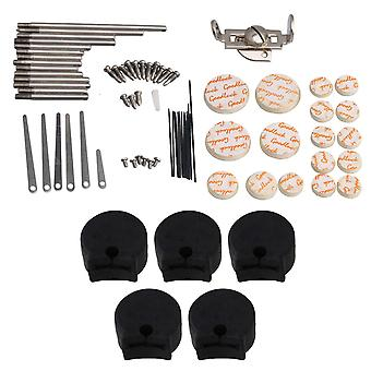 For Clarinet Repair Tool Set Reed Sound Hole Pad Type A & 5 Black Thumb Rest WS1609