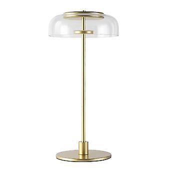 23CM Glass Desk Lamp 220V 7W Warm Light LED Light Hardware Glass Gold