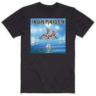 Iron Maiden - Seventh Son Box Miesten suuri T-paita - Musta
