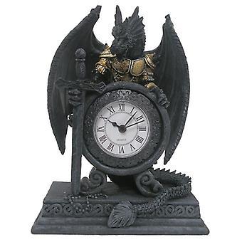 Gotische gepantserde Dragon mantel klok
